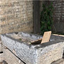 厂家出售农村天然老旧青石槽_牛槽水槽 石槽造景流水摆件