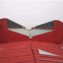 防飘雪型电动天窗设计图厂家煤棚专用窗式新风净化器