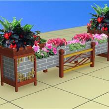 南宁市 实木花箱 铁艺花车 各种商业街露天酒吧咖啡厅花箱花鼓