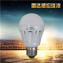 厂家直销批发LED球泡灯走廊/楼道/车库独立光源LED雷达感应球泡灯
