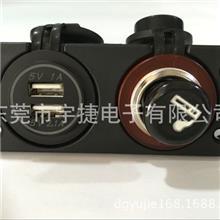 厂家直销  车载手机充电器 点烟器+新款USB 5V 2.1A  爆款爆款  Z