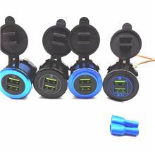 宇捷_车载手机充电器黑壳铝合金QC3.0快充USB充电器