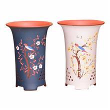 紫砂花盆 点彩兰花盆精品创意陶瓷吊兰绿萝春兰老桩绿植盆景盆