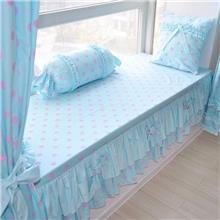 蓝色物语 公主风 个旧飘窗垫私人订制