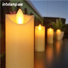 厂家直销led电子蜡烛灯红色仿真摇摆婚庆婚礼路引装饰蜡烛真火焰