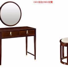 新中式古典梳妆台衣帽架家具 厂家直