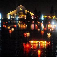 河灯许愿灯 创意蜡烛水灯 祈福荷花灯diy节庆景观灯批发