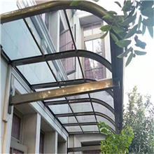 仓库雨蓬 办公楼雨篷 玻璃雨棚 遮阳雨蓬 折叠雨篷 晴雨天质量过关