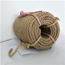 厂家出售 编织黄麻绳 手工捆绑绳子 三股细棉绳