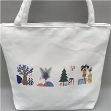 手提帆布袋定制热转印广告印花环保购物手提帆布袋创意空白棉布袋